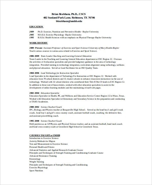 coach resume - Maggilocustdesign - head coach sample resume