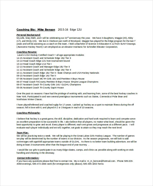 ... Resume Format For Fresher Engineer Download Essay On Stress And    Hockey Coach Cover Letter ...
