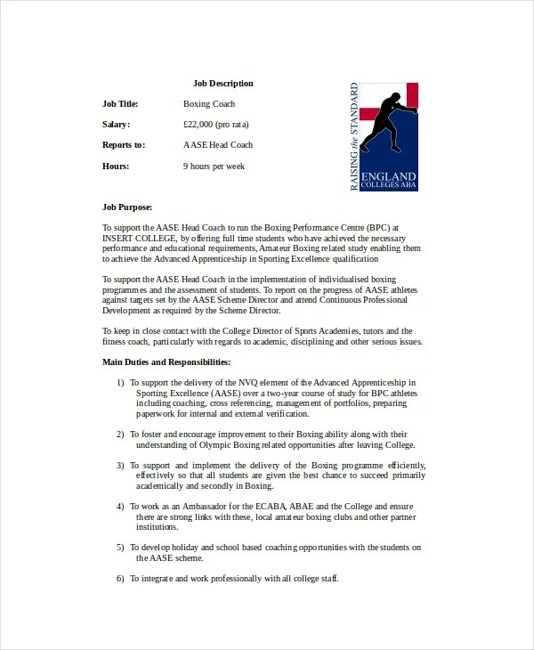10+ Coach Resume Templates - PDF, DOC Free  Premium Templates