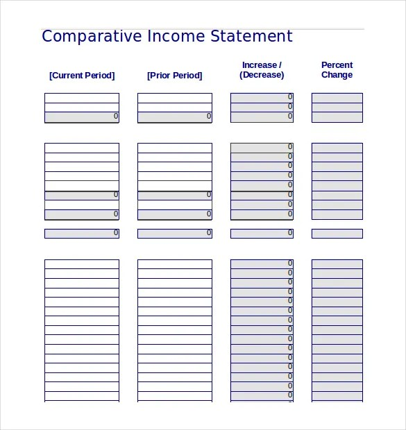 Income Statement Templates \u2013 23+ Free Word, Excel, PDF Documents - income statement template
