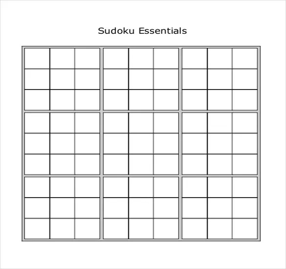 Prinable Sudoku Templates 15 Free Word Pdf Documents