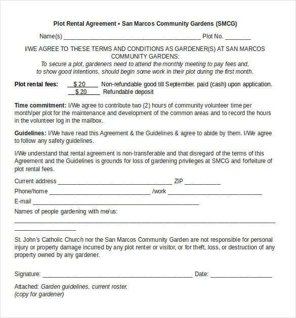 Rental Agreement Templates \u2013 17+ Free Word, PDF Documents Download - Free Rent Lease Agreement