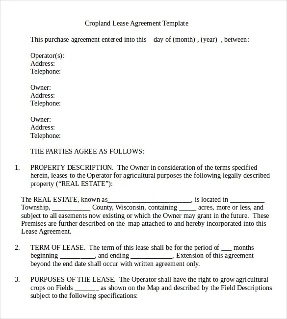 Rental Agreement Templates u2013 14+ Free Word, PDF Documents Download - property lease agreement template
