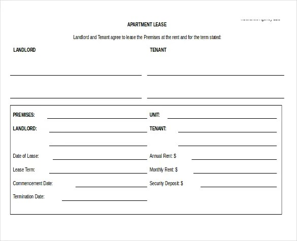 Free Tenancy Agreement Template Word Document – Lease Agreement Word Document