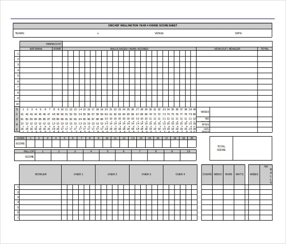 Free Download Scoreboard Templates In Microsoft Word Format Sample - sample phase 10 score sheet template