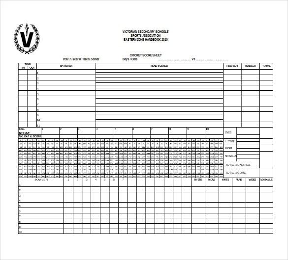11+ Free Download Scoreboard Templates in Microsoft Word Format