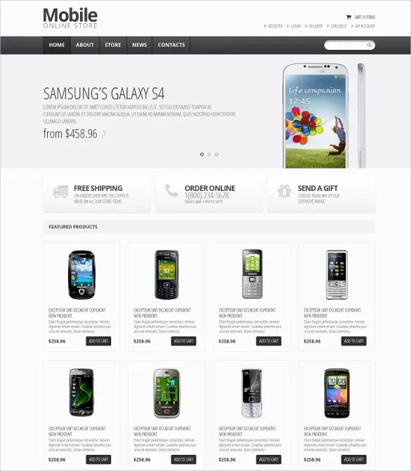 22 Best Mobile Store Mobile Templates  Themes Free  Premium