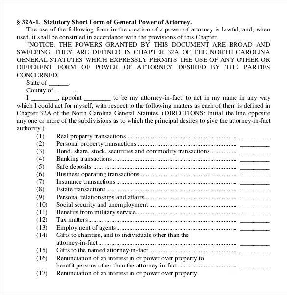 Power of Attorney Templates u2013 10+ Free Word, PDF Documents - general power of attorney forms