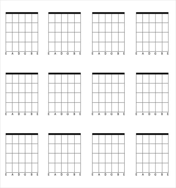 Guitar Chord Chart Templates \u2013 12+ Free Word, PDF Documents Download
