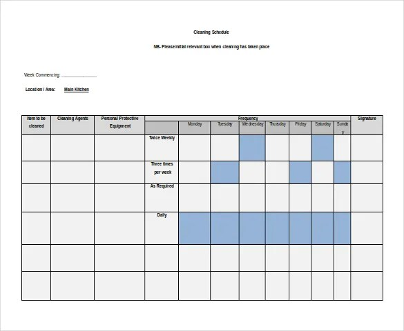 schedule templates word - Minimfagency