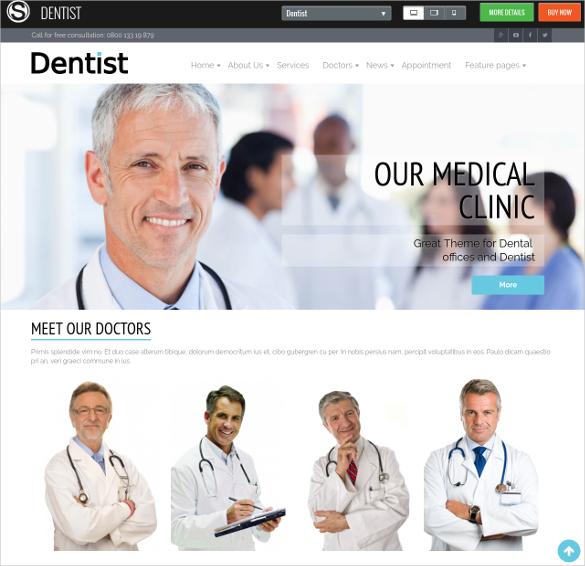 40+ Dental Website Themes  Templates Free  Premium Templates - doctor office website template