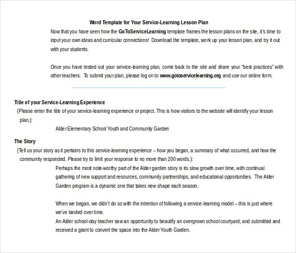 11 Microsoft Word Lesson Plan Templates Free amp Premium - mandegarinfo - word lesson plans