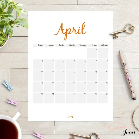 16+ Printable Microsoft Word Calendar Templates Free  Premium