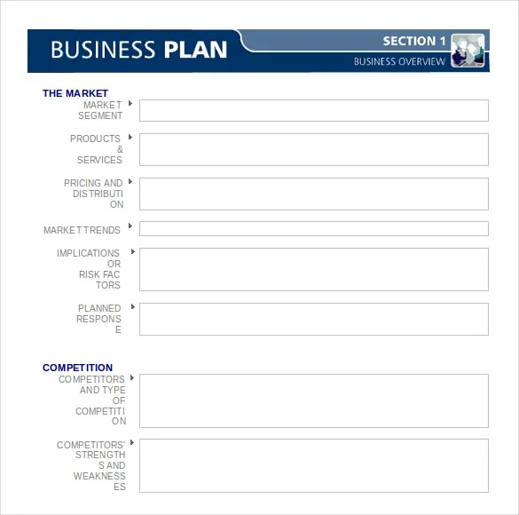 Business Plan Templates - 43+ Examples in Word Free  Premium