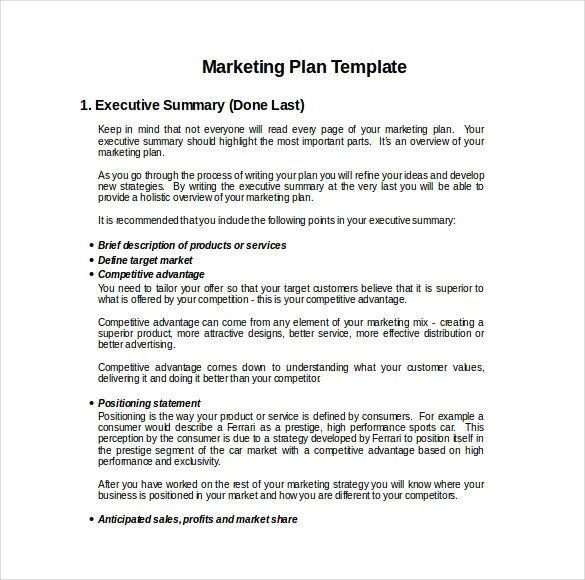 22+ Microsoft Word Marketing Plan Templates Free  Premium Templates