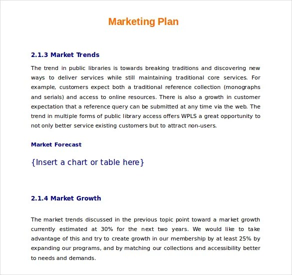 22+ Microsoft Word Marketing Plan Templates Free  Premium Templates - marketing plan template word