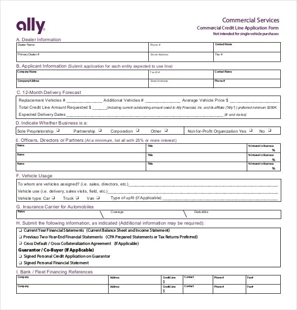 15+ Credit Application Templates u2013 Free Sample, Example, Format - credit application form