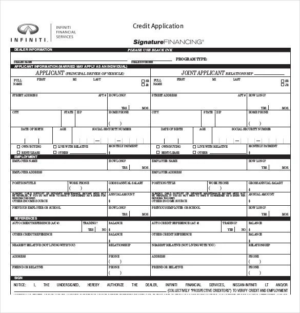15+ Credit Application Templates - Free Sample, Example, Format