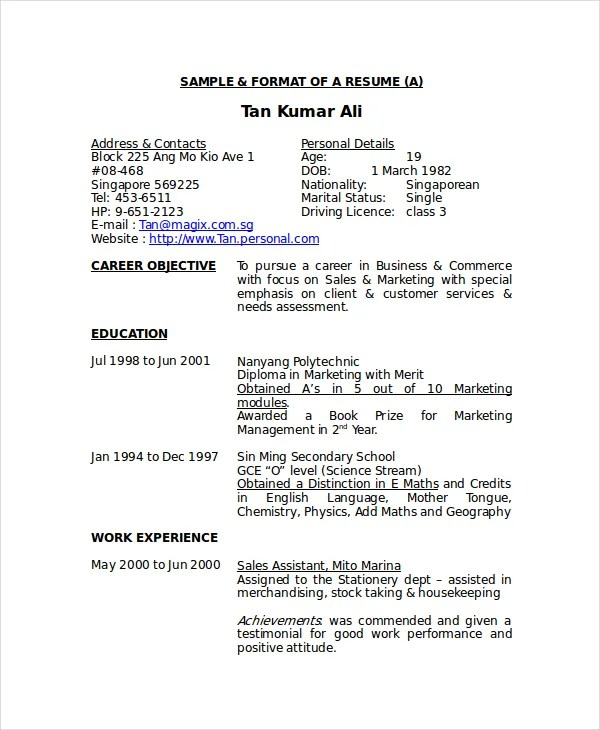 5+ Stocker Resume Templates - PDF, DOC Free  Premium Templates - stock resume