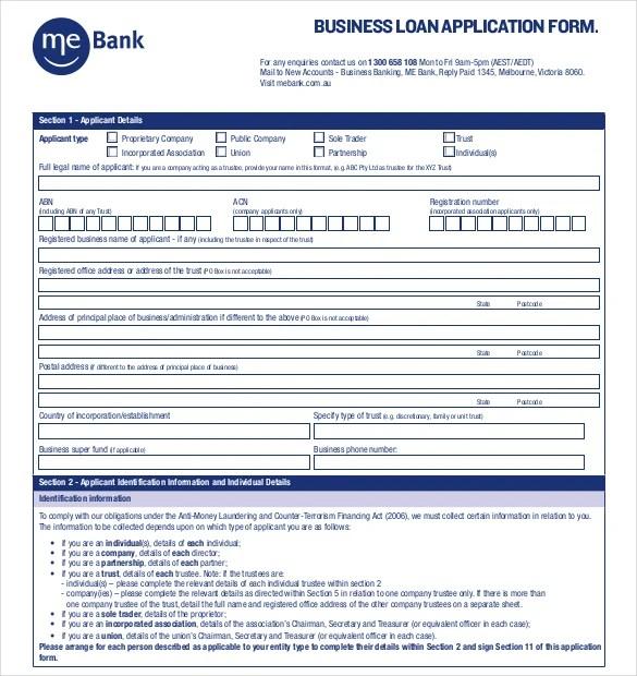 10+ Loan Application Templates - PDF, DOC Free  Premium Templates - loan form sample