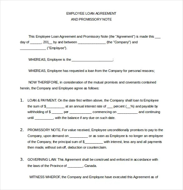 Loan Agreement Template Word Free – Free Loan Agreement Template Word