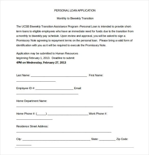 Sample Employee Loan Agreement – Employee Loan Agreement Template