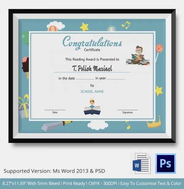 Congratulations Certificate Template - 10+ Word, PSD, Documents