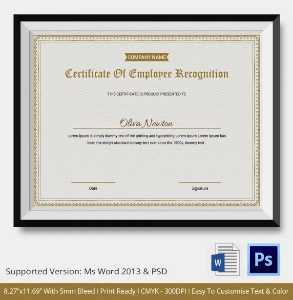 employee recognition certificate templates  employee recognition - employee recognition certificate template