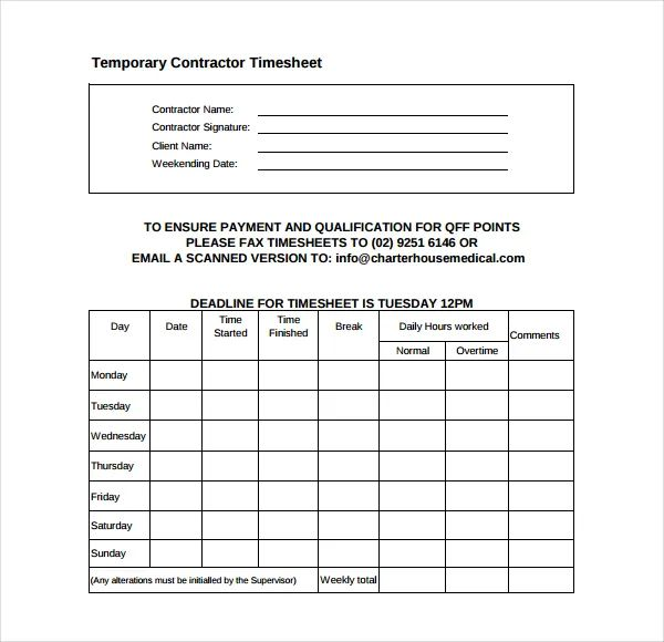 free contract templates for contractors