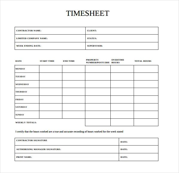 independent contractor timesheet excel - Onwebioinnovate