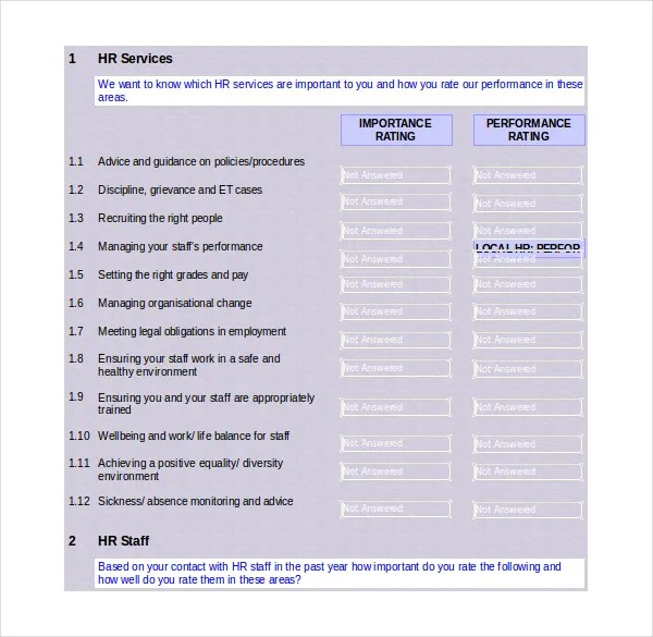 Satisfaction Survey Templates \u2013 17+ Free Word, Excel, PDF Documents - sample employee satisfaction survey