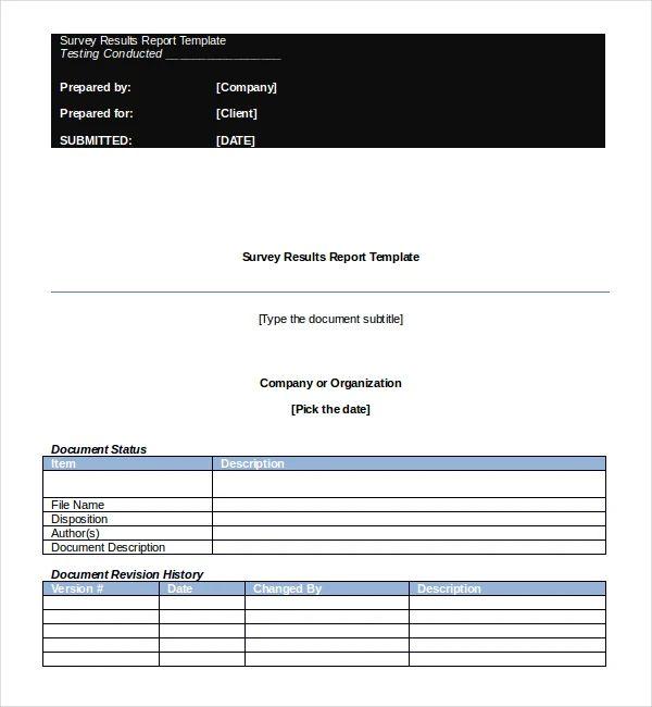 survey word document template