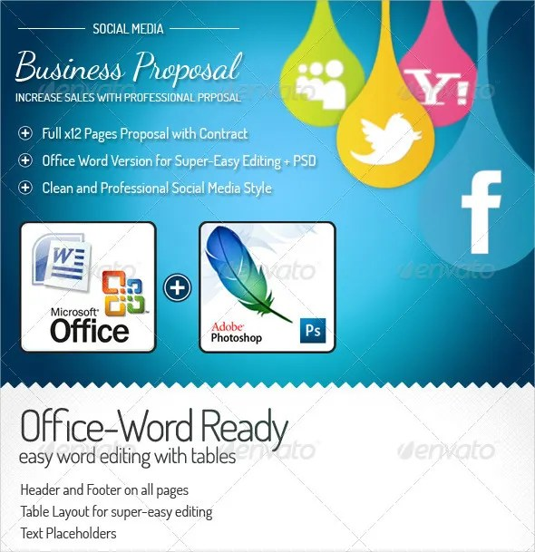20+ Proposal Templates - Free MS Word Documents Download Free - microsoft business proposal template