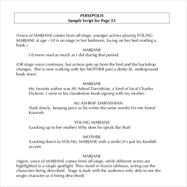 11+ Script Writing Templates - DOC, PDF Free  Premium Templates - screenplay template