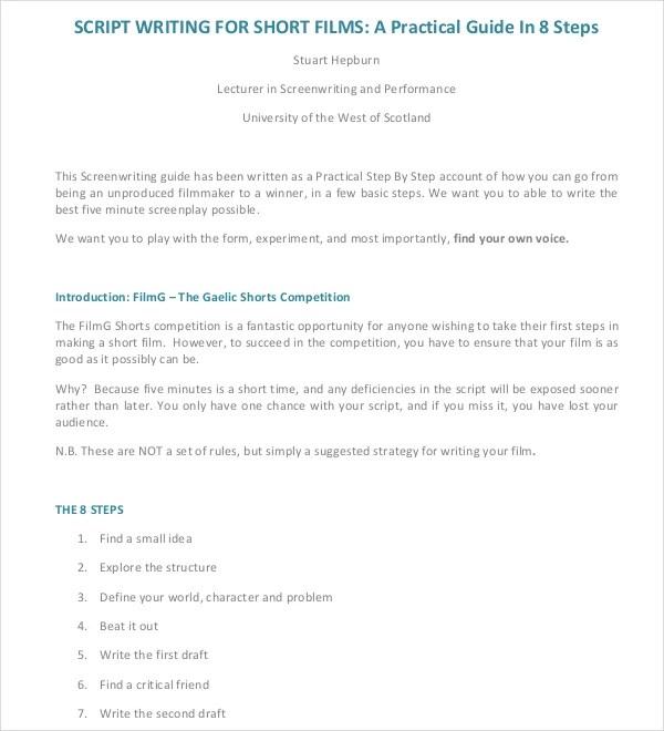 11+ Script Writing Templates - DOC, PDF Free  Premium Templates