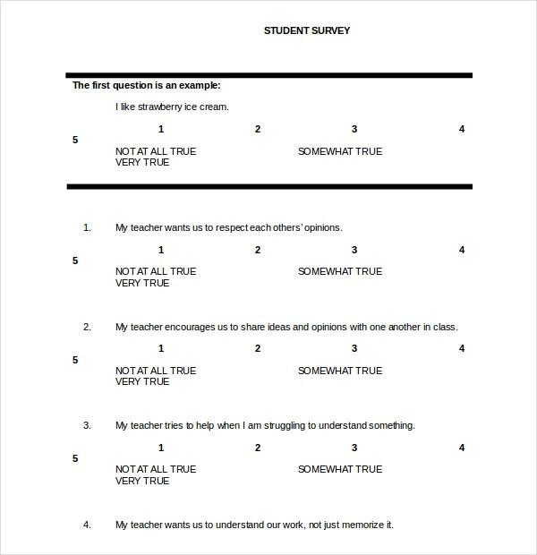 survey template word document - Onwebioinnovate - word templates questionnaire
