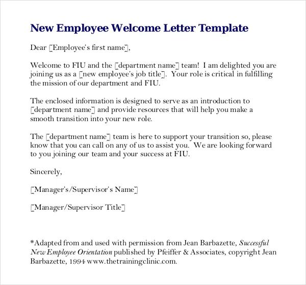 employee review letter