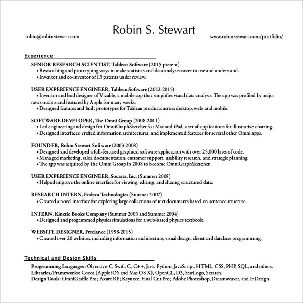 12+ Resume Writing Template \u2013 Free Sample, Example Format Download