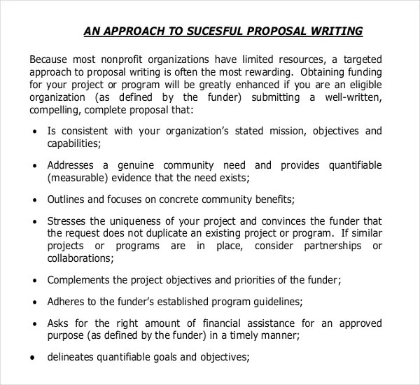 11+ Grant Writing Templates u2013 Free Sample, Example Format Download - non profit proposal template