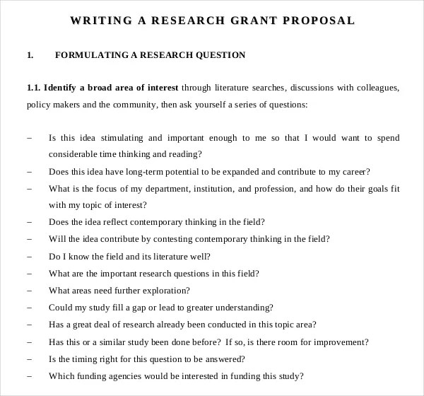 11+ Grant Writing Templates \u2013 Free Sample, Example Format Download