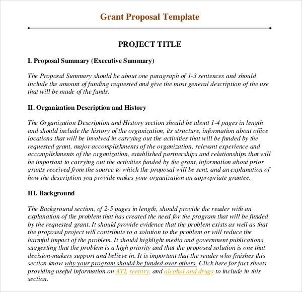 11+ Grant Writing Templates u2013 Free Sample, Example Format Download - fundraising proposal template