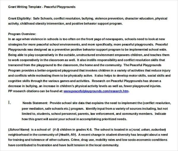 11+ Grant Writing Templates \u2013 Free Sample, Example Format Download