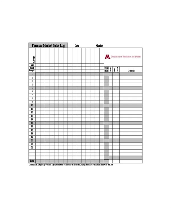 Sales Log Template - 5+ Free Word, Documents Download Free
