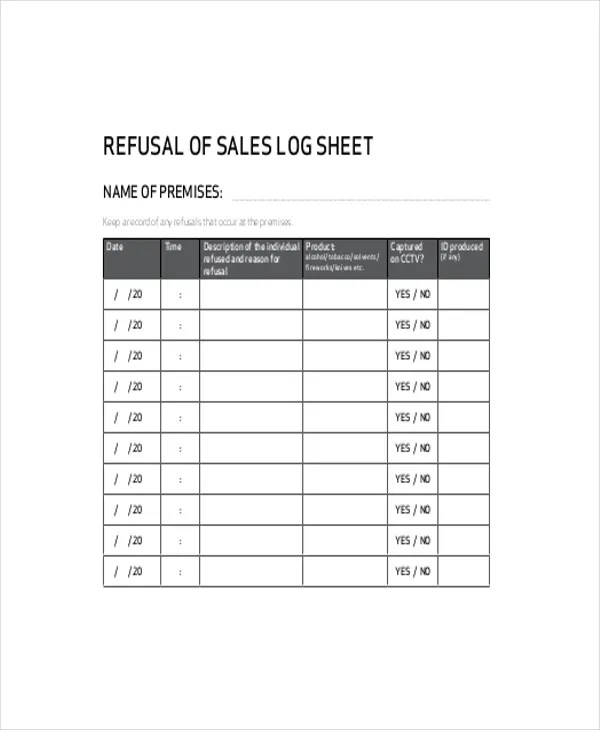 sales log - Towerssconstruction