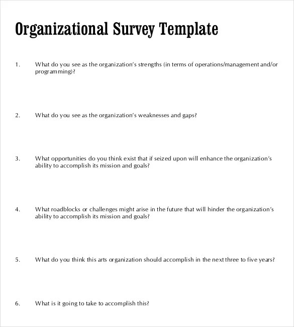 24+ Blank Survey Templates \u2013 PDF, Word, Excel Free  Premium Templates