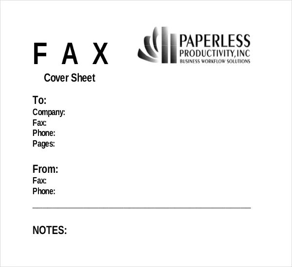 fax cover templates