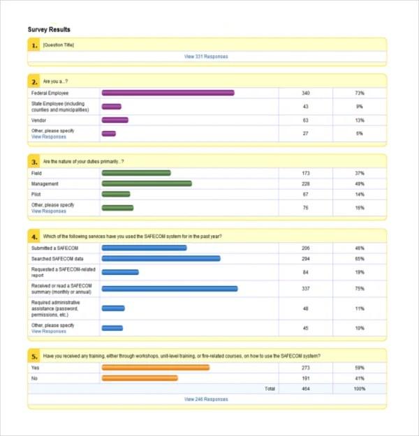 16+ Survey Report Templates - PDF, DOC Free  Premium Templates