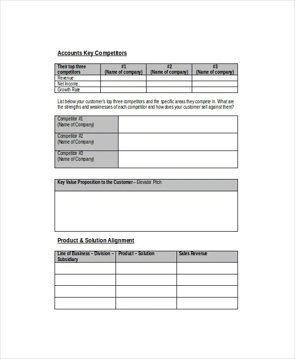 Sales Forecast Template - 6+ Free Word, PDF Documents Download