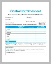 Contractor Weekly Printable Time Sheet Timesheet Template – 252 Free Sample Example Format