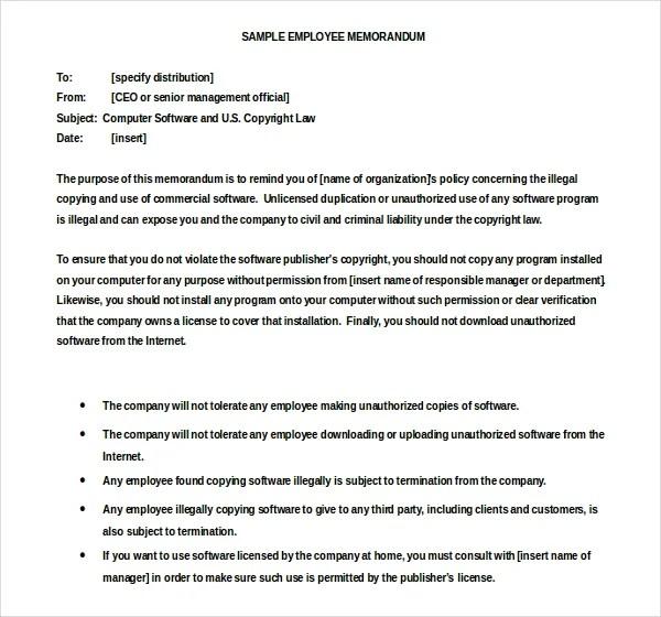 Employee Memo Template  NodeResumeTemplatePaasproviderCom